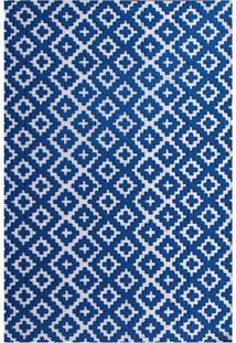 Tapete Strauss Deco- Azul & Branco- 200X150Cm- Aagi Tapetes