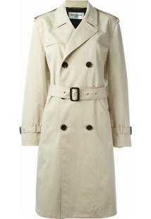 Saint Laurent Trench Coat Clássico - Neutro