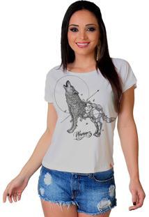 Camiseta Tee Wevans Lobo Geometrico Branco