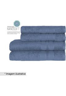 Toalha De Banho Remix Nanosoft- Azul Escuro- 70X140Ccamesa
