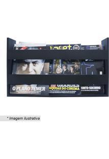 Porta Livros & Revistas- Preto- 30X50X11Cm- Kapokapos