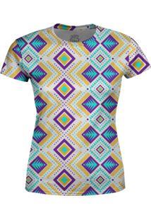 Camiseta Estampada Baby Look Over Fame Azul - Azul - Feminino - Poliã©Ster - Dafiti
