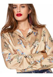 Camisa Feminina Estampada Leve