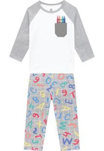 Pijama Infantil Menino Branco