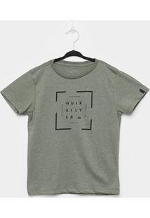 Camiseta Infantil Quiksilver Square Masculina - Masculino-Musgo