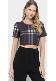 Camiseta My Favorite Thing (S) Cropped Estampada Feminina - Feminino-Preto