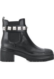 Michael Michael Kors Glenn Stud-Embellished Ankle Boots - Preto