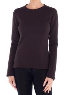 Camiseta Segunda Pele Térmica Thermal Stretch Solo Feminina - Feminino-Marrom