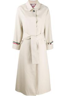 Thom Browne Trench Coat Impermeável - Neutro