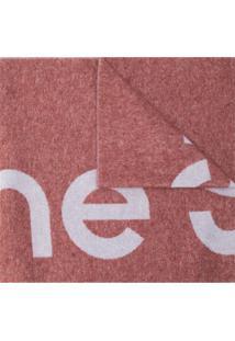 Acne Studios Cachecol Jacquard Com Logo - Vermelho