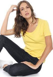 Camiseta Ellus Bordada Amarela