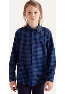 Camisa Mini Pf Ml Vichy Medio Reserva Mini Cinza