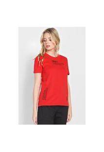 Camiseta Calvin Klein Jeans Gravity Vermelha