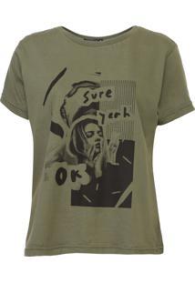 Camiseta Fiveblu Foto Verde