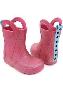 Galocha Plugt Estrelas Gliter Feminina - Feminino-Pink