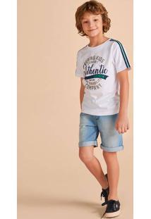Conjunto Infantil Menino Com Bermuda Jeans Hering Kids