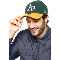 Boné New Era Snapback Oakland Athletics Verde Amarelo 4493ffd58e4