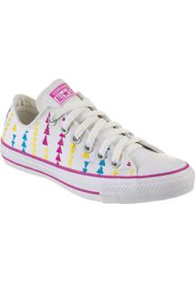 Tênis Feminino Converse All Star Ct As Embroidery Ox Branco/Violeta Floral Branco - Cto1650003