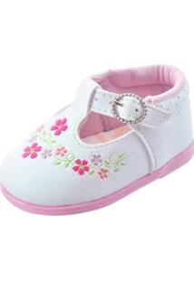 Sapatinho Infantil Pekenos Mimos 101 - Feminino-Branco