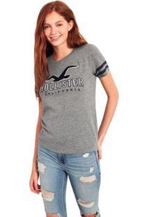 Camiseta Hollister Gráfica Feminina - Feminino