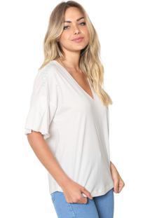 Camiseta Colcci Bordada Branca