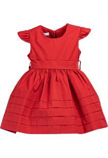 Vestido Pipoca Doce Algodão Vermelho