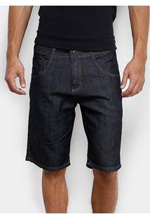 Bermuda Jeans Biotipo Escura Masculina - Masculino-Azul Escuro