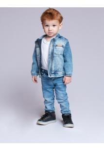 Jaqueta Jeans Mrx Jeans Azul