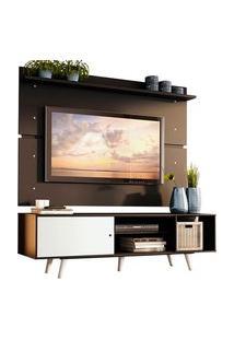 Rack Madesa Dubai E Painel Para Tv Até 65 Polegadas Com Pés Preto/Branco 7777 Preto