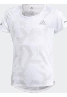 Camiseta Infantil Adidas Run - Feminino-Branco