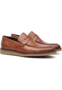 Sapato Social Samello Loafer Sedan Em Couro Masculino - Masculino