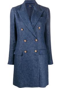 Polo Ralph Lauren Double Breasted Coat - Azul
