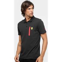 Camisa Polo Puma Scuderia Ferrari Masculina - Masculino-Preto 41cbea89b84e9