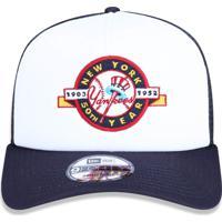 Boné New Era 940 A-Frame Trucker Sn New York Yankees Branco Marinho f8c0d42af8bff