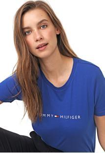 Camiseta Tommy Hilfiger Essential Crew Neck Azul