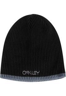Gorro Oakley Factory Flip Beanie Masculino - Masculino-Preto d0510e555aa