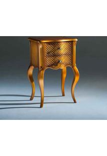 Mesa De Cabeceira Inspiração Decorativa Madeira Maciça Design Clássico Avi Móveis