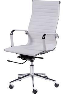 Cadeira Eames Alta Branca Base Cromada - 15121 - Sun House