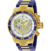 a8ea23c8a3a Relógio Invicta Analógico Corduba - 10619 Masculino - Masculino-Dourado+Azul