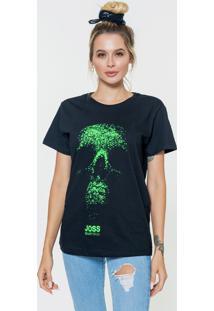 Camiseta Básica Feminina Joss Caveira Binária - Kanui