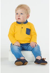Camisa Up Baby Bebê Amarelo