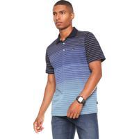 Camisa Polo Quiksilver Heather Padronagem Azul 149a60df5b2