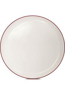 Prato De Sobremesa De Cerâmica Klein Corona Vermelho 22Cm - 23287