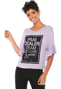 Camiseta Guess Dealer Team Roxa