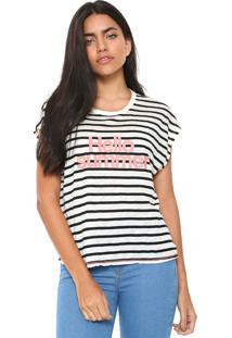 Camiseta Mng Barcelona Yate Branca/Preta