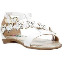f161e5f0e9 Home Calçados Meninas Sandálias Borboleta Fivela Sintetica. Sandália  Infantil Para Menina - Branco
