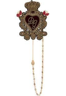 Dolce & Gabbana Broche Sagrado Coração - Dourado
