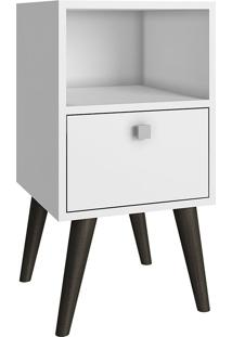 Mesa De Apoio Palito-Brv Móveis - Branco / Pinhão