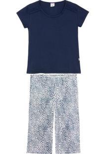 Pijama Feminino Lua Encantada Pescador Onça