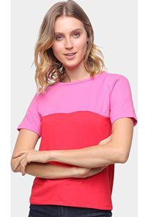 Camiseta Volare Básica Bicolor Feminina - Feminino